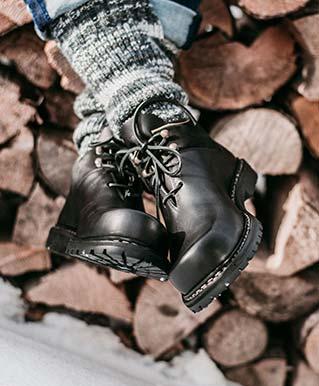 Haferlschuhe im Winter